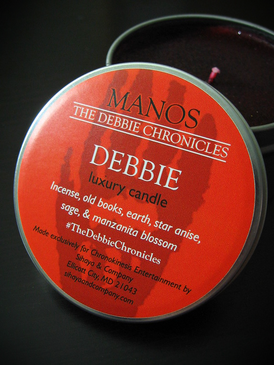 Debbie Luxury Candle - Incense, Earth, Old Books, Star Anise, Sage, Manzanita... Limited Edition Manos: The Debbie Chronicles Benefit Project