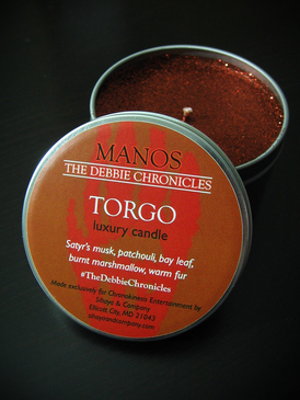 Torgo Luxury Candle - Satyr's Musk, Patchouli, Bay Leaf, Burnt Marshmallow, Warm Fur... Limited Edition Manos: The Debbie Chronicles Benefit Project