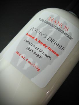 Young Debbie Organic Hand and Body Lotion - Manzanita Blossom, Spun Sugar... Limited Edition Manos: The Debbie Chronicles Benefit Project
