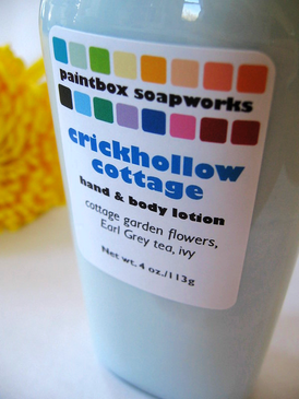 Crickhollow Cottage Organic Hand and Body Lotion - Cottage Garden Flowers, Earl Grey Tea, Ivy... Spring Limited Edition