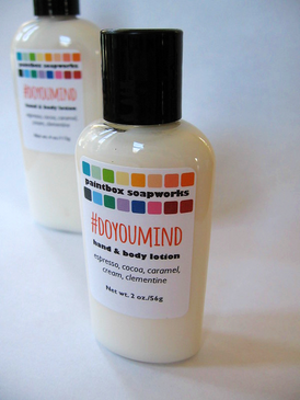 #DoYouMind SAMPLE SIZE Organic Hand and Body Lotion - Espresso, Cocoa, Caramel, Cream, Clementine... Spring Limited Edition