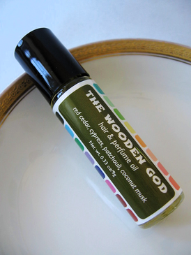 The Wooden God Hair & Perfume Oil - Red Cedar, Cypress, Patchouli, Coconut Musk... Spring Limited Edition