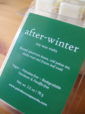 After-Winter Soy Wax Melts - Bruised Mint, Cold Tea, Frozen Trails... Spring Limited Edition