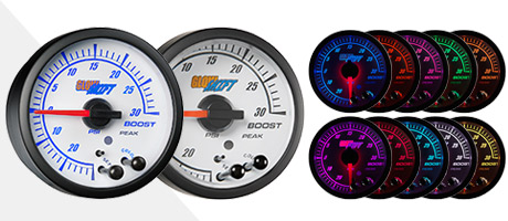 White Elite 10 Color Gauge Series