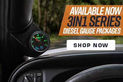 GlowShift 3in1 Diesel Gauge Packages