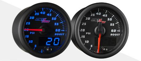 Black & Blue MaxTow Diesel Gauge Series