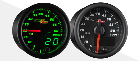 glowshift maxtow double vision diesel gauges black face boost
