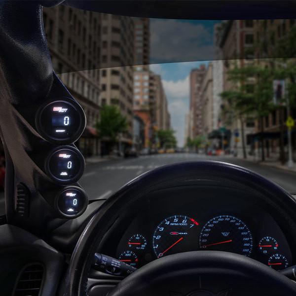 Gauge to Vehicles A-Pillar 52mm GlowShift Black Single Pillar Gauge Pod for 1995-2002 Chevrolet Chevy Cavalier ABS Plastic 1 2-1//16 Mounts