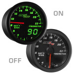 Black & Green MaxTow 2200° Fahrenheit Exhaust Temperature Gauge