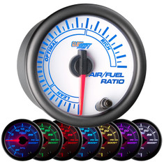 White 7 Color Needle Air/Fuel Ratio Gauge