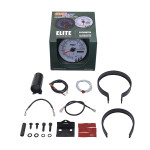 """GlowShift White Elite 10 Color 3 3/4"""" In Dash Tachometer w Shift Light Unboxed"""