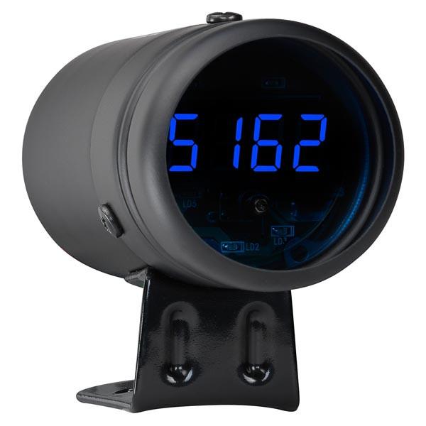 Black Digital Tachometer & Blue LED Shift Light