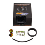 GlowShift 10 Color Digital Narrowband Air/Fuel Ratio AFR Gauge Unboxed
