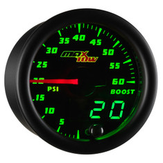 Black & Green MaxTow 60 PSI Boost Gauge