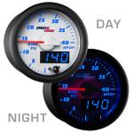 White & Blue MaxTow 4,000 PSI HPOP Gauge Day/Night View