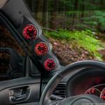 2008-2014 Subaru Impreza WRX Triple Pillar Pod Installed
