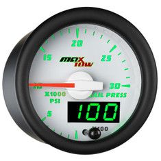 White & Green MaxTow 30,000 PSI Fuel Rail Pressure Gauge