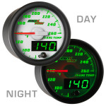 White & Green MaxTow Transmission Temperature Gauge Day/Night View