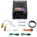 GlowShift Black 7 Color Dual Intake Temperature Gauge Unboxed