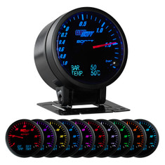 3in1 Black BAR Boost/Vac w/ Digital BAR Pressure & Celsius Temp Gauge