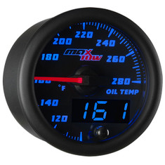 Black & Blue MaxTow Oil Temperature Gauge