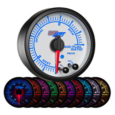 White Elite 10 Color Air/Fuel Ratio Gauge