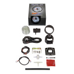 GlowShift White Elite 10 Color 30 PSI Boost/Vacuum Gauge Unboxed