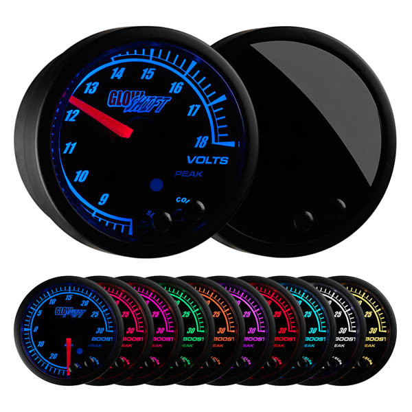 Elite 10 Color Volt Gauge
