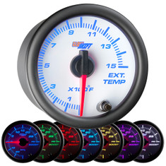 White 7 Color 1500° F Pyrometer EGT Gauge