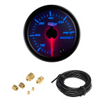 White 7 Color 60 PSI Boost Gauge with Hose and Compression Fittings