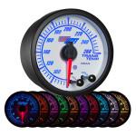 White Elite 10 Color Transmission Temperature Gauge