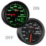 Black & Green MaxTow Transmission Temperature Gauge On/Off View