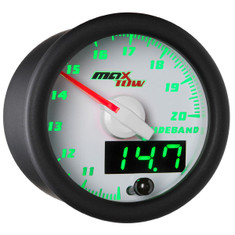 White & Green MaxTow Wideband Air/Fuel Ratio Gauge