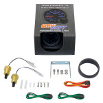 GlowShift Tinted 7 Color Dual Intake Temperature Gauge Unboxed