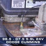 Boost Gauge Bolt Adapter for 24v Cummins 5.9L Installed