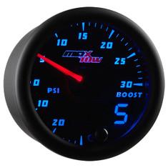 Black & Blue MaxTow 30 PSI Boost/Vacuum Gauge