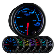 Black 7 Color Oil Temperature Gauge