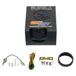GlowShift Black 7 Color Oil Temperature Gauge Unboxed
