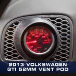 2010-2013 Volkswagen Golf MK6 Single Gauge Pod