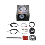 GlowShift White Elite 10 Color 2 Inch Tachometer Gauge Unboxed