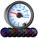 White 7 Color Volt Gauge