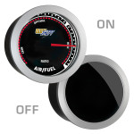 GlowShift Tinted Narrowband Air/Fuel Ratio Gauge On/Off
