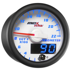 White & Blue MaxTow 2200° F Exhaust Gas Temperature Gauge
