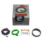 """White & Green MaxTow 2"""" Tachometer Gauge Unboxed"""