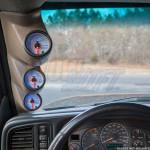 Tan Triple Pillar Gauge Pod for 2000-2006 Chevrolet Silverado Duramax Installed