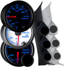 2008-2014 Subaru Impreza WRX Custom 7 Color Gauge Package Gallery