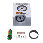 GlowShift White 7 Color Fuel Rail Pressure Gauge Unboxed