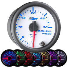White 7 Color 30,000 PSI Fuel Rail Pressure Gauge