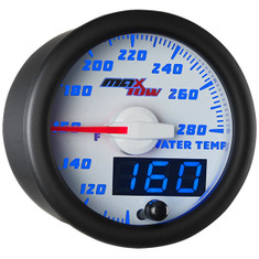 White & Blue MaxTow Water Temperature Gauge
