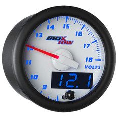 White & Blue MaxTow Volt Gauge